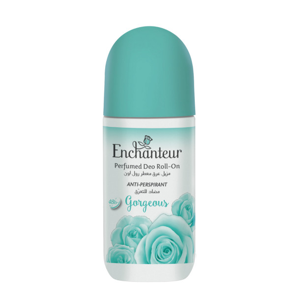 Enchanteur Gorgeous Roll-On Deodorant for Women, 50ml with Jasmine Tuberoses & Peach Extracts